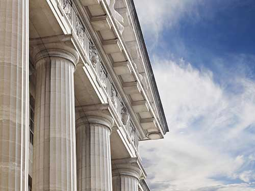 facade of a courthouse
